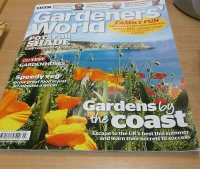 BBC Gardeners' World magazine JUL 2018 Pots for Shade, Hoses, Speedy Veg, Garlic