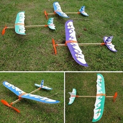 FD1924 Practical DIY Airplane Aircraft Model Powered by Rubber Band Toys 1pc