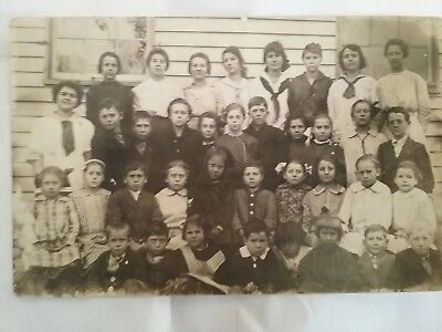 Post Card Photo Of School Group