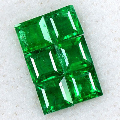 1.5 Cts Natural 3.5 mm Emerald Loose Gemstone Rich Green Square Cut Lot Zambia $