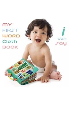 "Babies Teytoy Cloth First Word Book ""I Can Say""  Baby Toy Book Soft, Xmas Gift"
