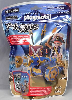 Playmobil Pirates 6164 Blaue App-Kanone mit Piraten-Offizier Pirat Waffen NEU