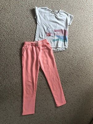 Girls ZARA Outfit Top Trousers Pink Size 11-12 Years