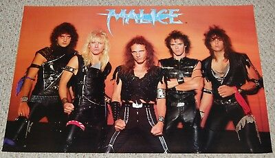 MALICE Group Pose Poster 1980's Artemis 8125 Heavy Metal Hair Band