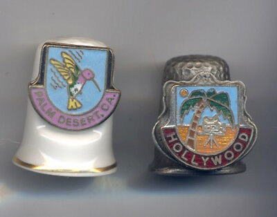 Two thimbles /china & pewter .odt