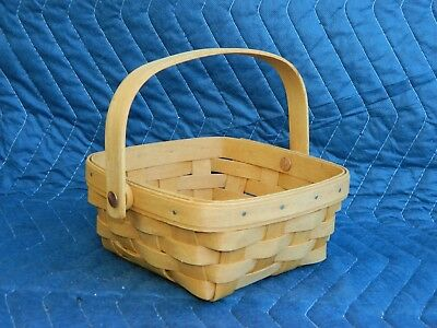 Longaberger Small Berry Basket w/ Hinged Handle 1996