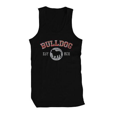 Bulldog EST 1631 Dog Lovers Pure Bred Puppy Canine Cute Breed Friendly Mens Tank