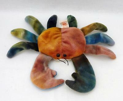 1996 Ty BEANIE BABIES COLLECTION Brown & Green CLAUDE Soft Plush Crab, No Tag