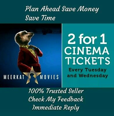 Meerkat 2 For 1 Cinema Code - Odeon, Cineworld, Vue,