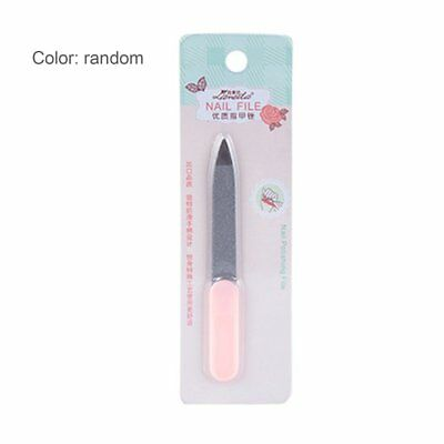 Plum Pattern Nail File Finger Polish Care Pedicure Tool CA