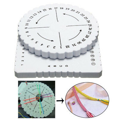 4Pcs Square Round DIY Beading Braided Cord Disc/Disk Braiding Plate Weaving Tool