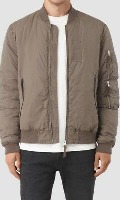 dc4d8ac615b Allsaints Soven Bomber Jacket - Taupe Brown - Bnwt - Large All Saints