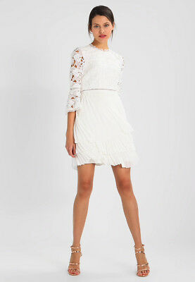 Ted Baker White Stefoni Pleated Skirt Lace Bodice Bride Bridesmaid Dress £299