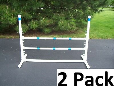 2 Pack of Agility Gear Fixed Base Competition Dog Jumps