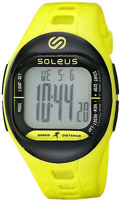 SOLEUS TEMPO SF001 Fitness Sport Activity Monitor Watch Water Resistant In Lime