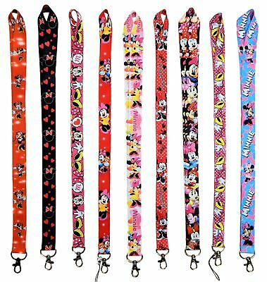 Disney Minnie Mouse Lanyards with Clip - ID / Badge Holder ~ Brand NEW Lanyard