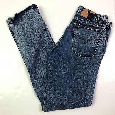 Levis stone washed tapered jeans vtg made in usa w30 l32