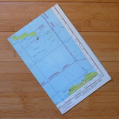 1951 US Aeronautical Map Great Inagua Island Flight Chart Cuba Bahama Islands