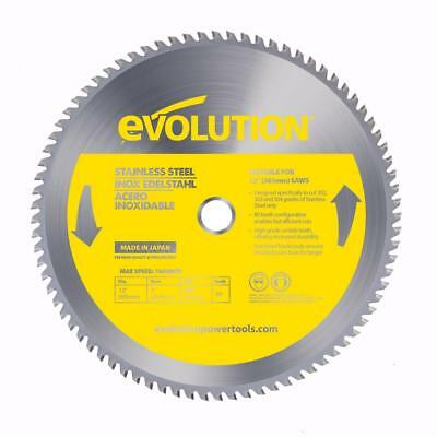 Evolution 12BLADESSN 12 in. 80-Teeth Stainless-Steel Cutting Saw Blade
