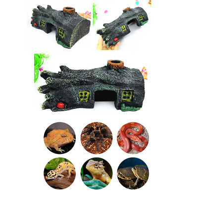 Resin Reptile Lizard Gecko Shelter Hideout Hide Away Cave Hut