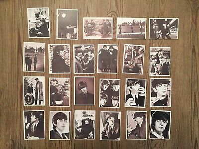 B228 Lot of 23 Vintage Beatles Trading Cards 1964 Topps
