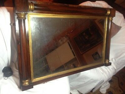 Beautiful Regency Overmantle Mirror in Rosewood, original glass-over 200 yrs old