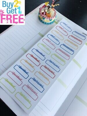 PP493 - Appointment Reminder Life Planner Stickers for Erin Condren (24pcs)