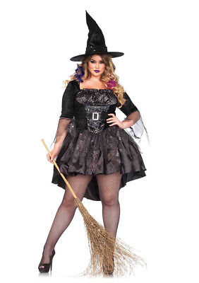 Leg Avenue Sexy Black Magic Mistress Halloween Costume Women's Plus Size