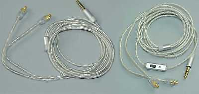 Silver Plated Earphone Audio Cable Wire for Shure SE215 SE425 SE535 SE846 UE900