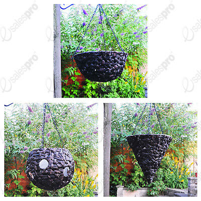 Choice of natural water hyacinth hanging baskets various styles and sizes
