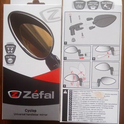 ZEFAL Cyclop bike mirror-retrovisor bicicleta orientable-plegable black-negro