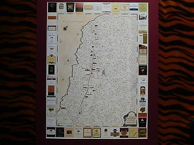 "1999 Napa Valley ""Vintage Expedition"" Full Color Winery Map California Poster"