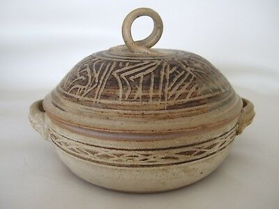 Nova Scotia art pottery lidded pot vessel Sally Ravindra Purcell's Cove
