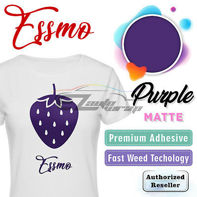 "Purple Matte Solid Heat Transfer Vinyl HTV T-Shirt 20"" Iron On Heat Press DP11"