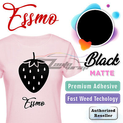 "Black Matte Solid Heat Transfer Vinyl HTV T-Shirt 20"" Iron On Heat Press DP01"