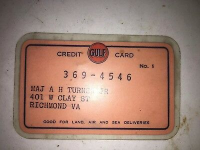 RARE VINTAGE GULF GAS OIL 1950'S CREDIT CARD Advertising