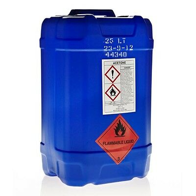Acetone 25 Litres 99.9% pure solvent brush cleaner