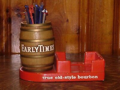 Vintage Early Times Bourbon Bar Display Sign Whiskey Keg