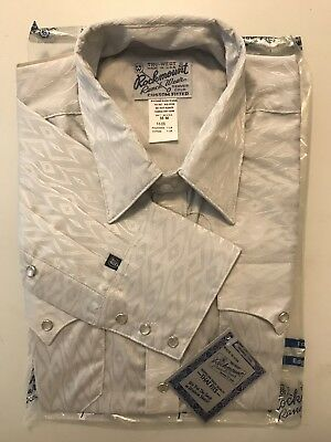 Rockmount RanchWear Long Sleeve Button Down [Size 16M] Made in USA Gray Design