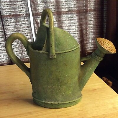 Rare Marjolein Bastin Cast Iron Watering Can Doorstop Cottage Chic Excellent!!