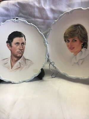 Vintage Royal Albert Bone Chine Plates Of Lady Diana Prince Charles Marriage