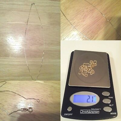 Beautiful Vtg Chain 925 Sterling Silver Gold Tone Plated Wearable Not For Scrap.