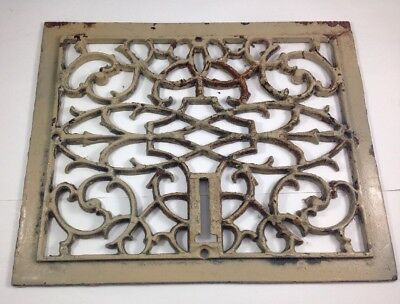 Antique Victorian Heating Grate Vent Cover Register Square Cast Iron