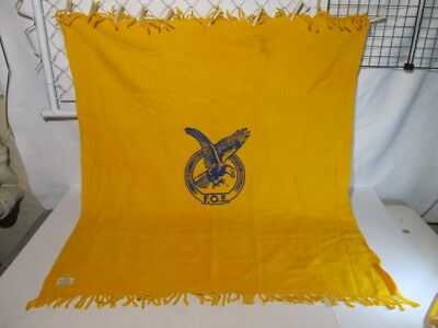 Faribo Fraternal Order Of Eagles 100% Wool Blanket Throw USA Stadium 51x47