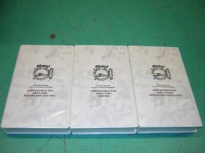 Custom Marine Canvas Training Workshop VHS, 3 videos, boat top