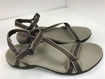 8202e03f90cc0 Teva Zirra Womens Brown Adjustable Strap Hiking Sport Chocolate Chip  Sandals 8