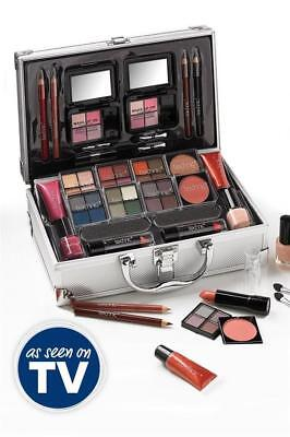 Technic Colour Collection In Aluminium Beauty Make Up Case & Cosmetics Eyes Lips