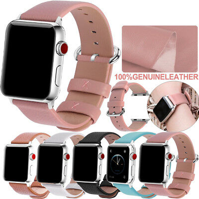 42/44mm 38/40mm Strap Band Genuine Leather Apple Watch Series 1 2 3 4 Wrist band