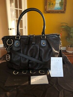 e98ff879a575 100% Authentic Gucci Sukey Large Guccissima Brown Leather Top Handle Bag  $2,012