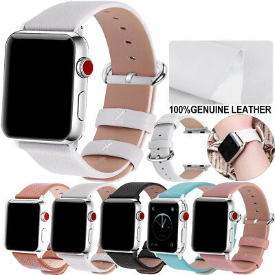 Fullmosa Leather Wrist Strap Band fr Apple Watch Band 38/42/40/44mm Series 4 3 2